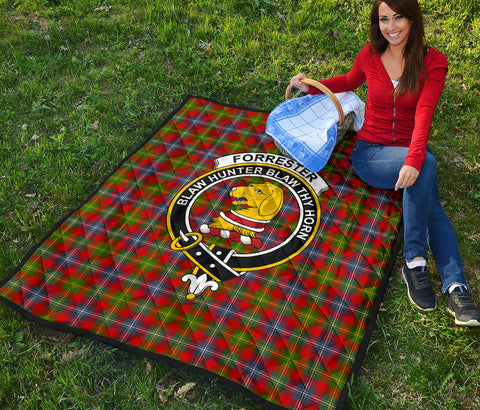 Forrester Tartan Clan Badge Premium Quilt TH8