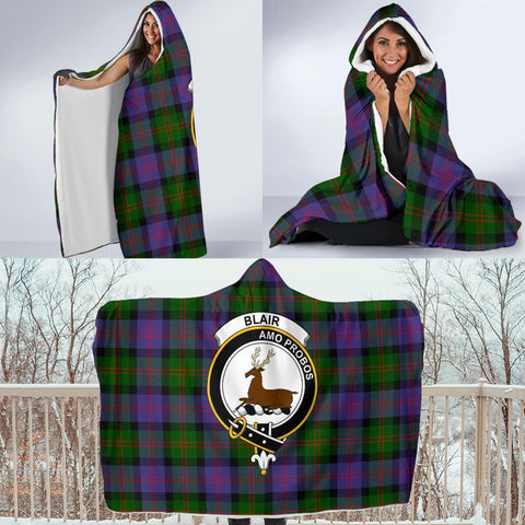 Blair Clans Tartan Hooded Blanket - BN