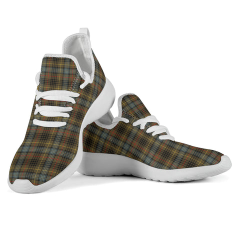 Tartan Mesh Knit Sneakers - Stewart Hunting Weathered - BN