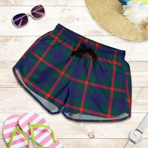 Agnew Modern Tartan Shorts For Women