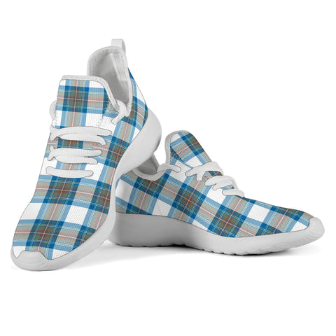 Tartan Mesh Knit Sneakers - Stewart Muted Blue - BN
