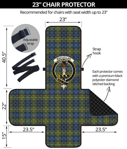 MacLellan Ancient Tartan Clan Badge Sofa Protector K7