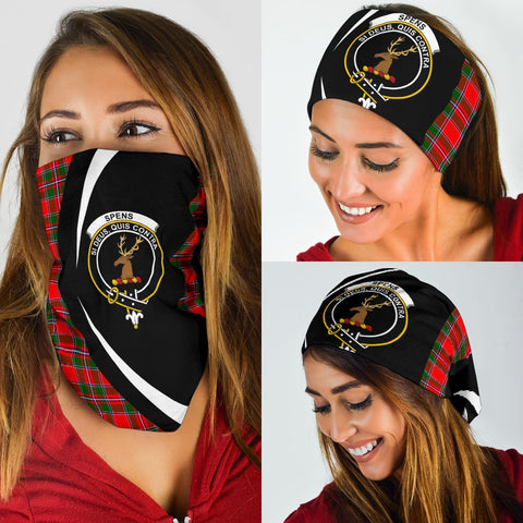 Image of Spens Modern Tartan Bandana Circle Hj4