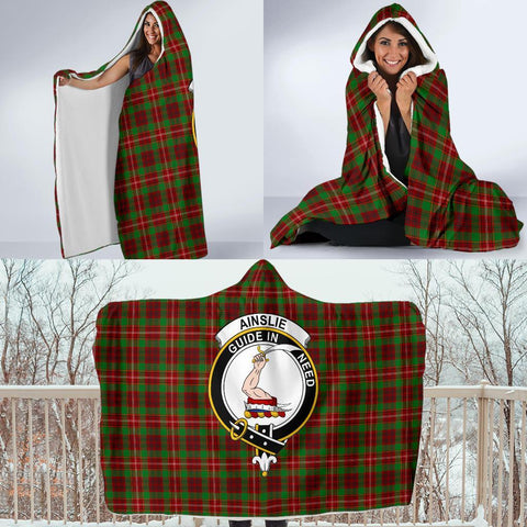 Image of Ainslie Clans Tartan Hooded Blanket - BN