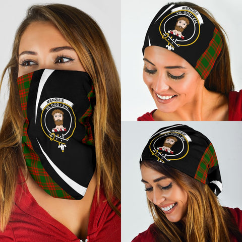 Image of Menzies Green Modern Tartan Bandana Circle Hj4