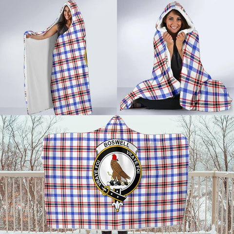 Image of Boswell Clans Tartan Hooded Blanket - BN