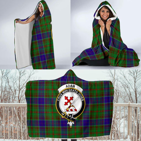 Adam Clans Tartan Hooded Blanket - BN