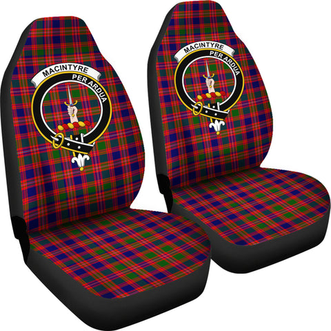 Macintyre Modern Tartan Car Seat Covers - Clan Badge K7