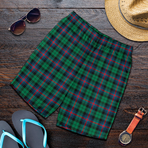 Image of Urquhart Broad Red Ancient Tartan Shorts For Men