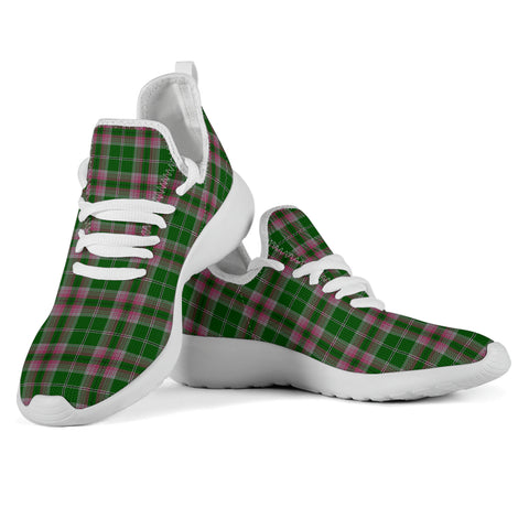Tartan Mesh Knit Sneakers - Gray Hunting - BN