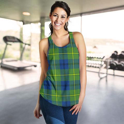 Johnston Ancient Tartan Women Racerback Tank