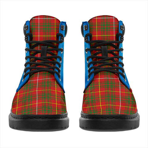 Bruce Modern Tartan All-Season Boots - Celtic Thistle TH8