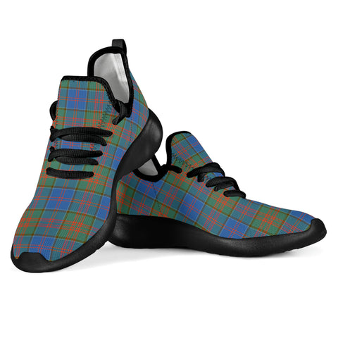 Tartan Mesh Knit Sneakers - Stewart of Appin Hunting Ancient