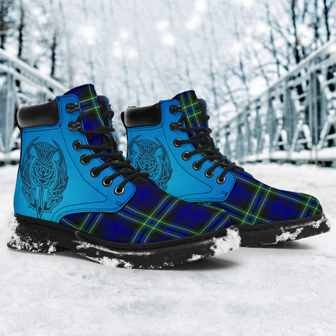 Arbuthnot Modern Tartan All-Season Boots - Celtic Thistle TH8