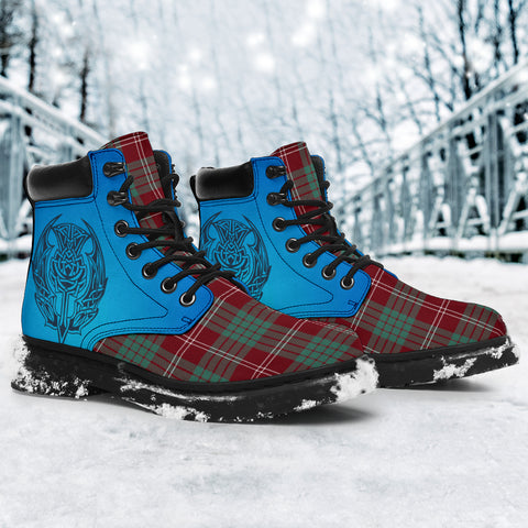 Crawford Modern Tartan All-Season Boots - Celtic Thistle TH8