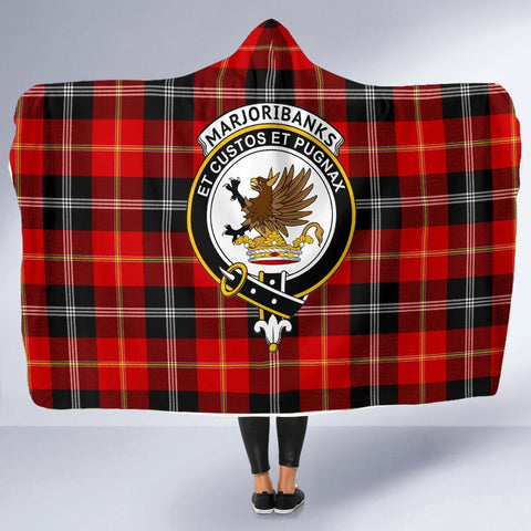 Image of Marjoribanks Clans Tartan Hooded Blanket - BN
