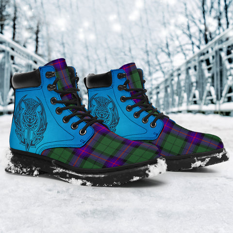 Armstrong Modern Tartan All-Season Boots - Celtic Thistle TH8