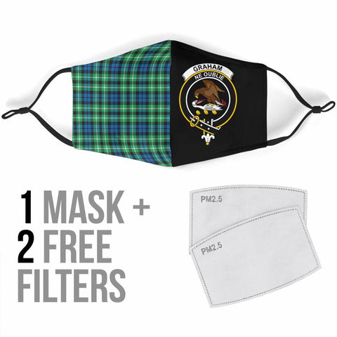 Graham of Montrose Ancient  Tartan Mouth Mask The Half Th88