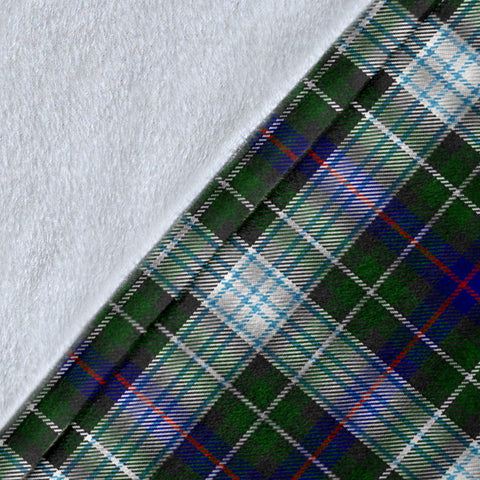 MacKenzie Dress Tartan Clan Badge Premium Blanket Wave Style TH8