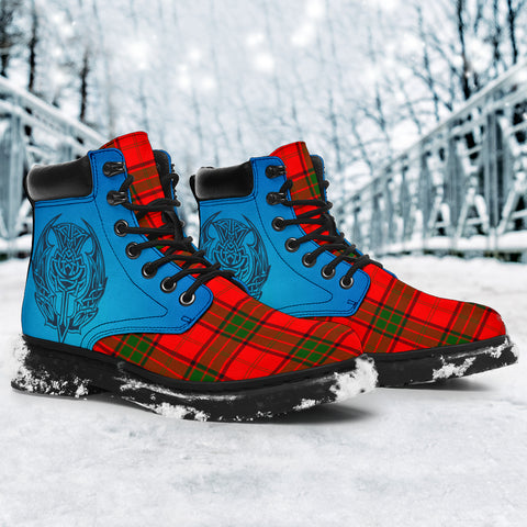 Maxwell Modern Tartan All-Season Boots - Celtic Thistle TH8