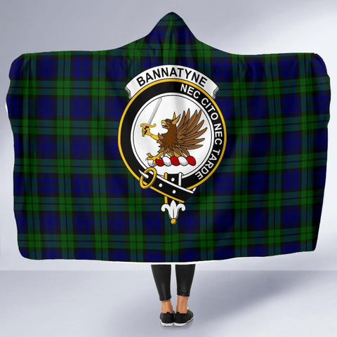 Image of Bannatyne Clans Tartan Hooded Blanket - BN
