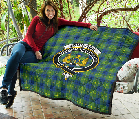 Johnston Ancient Tartan Clan Badge Premium Quilt TH8