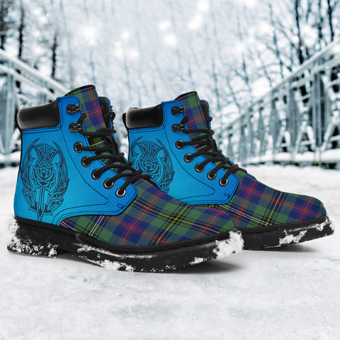 Wood Modern Tartan All-Season Boots - Celtic Thistle TH8