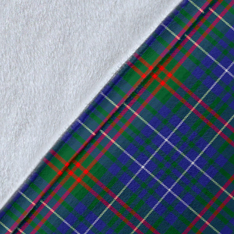 Edmonstone (of Duntreath) Crest Tartan Blanket | Tartan Home Decor | Scottish Clan