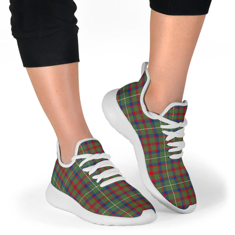 Image of Tartan Mesh Knit Sneakers - Shaw Green Modern - BN