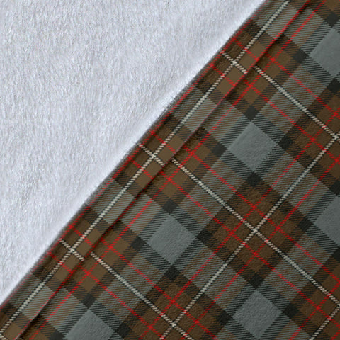 Fergusson Weathered Tartan Clan Badge Premium Blanket Wave Style TH8