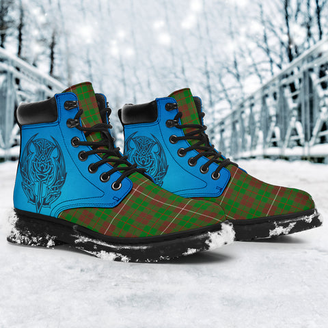 Mackinnon Hunting Modern Tartan All-Season Boots - Celtic Thistle TH8