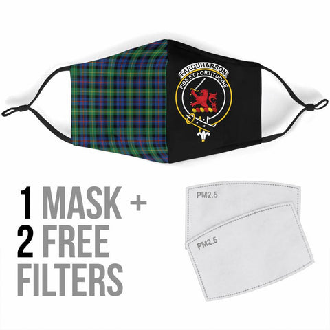 Farquharson Ancient  Tartan Mouth Mask The Half Th88