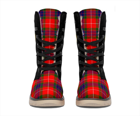 Image of Tartan Women's Snow Boots - Clan Abernethy Boots Side Crest - BN