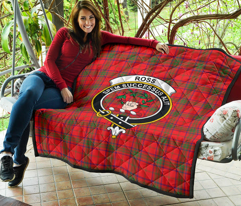 Ross Modern Tartan Clan Badge Premium Quilt TH8