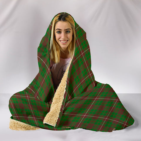 Image of MacKinnon Hunting Modern, hooded blanket, tartan hooded blanket, Scots Tartan, Merry Christmas, cyber Monday, xmas, snow hooded blanket, Scotland tartan, woven blanket