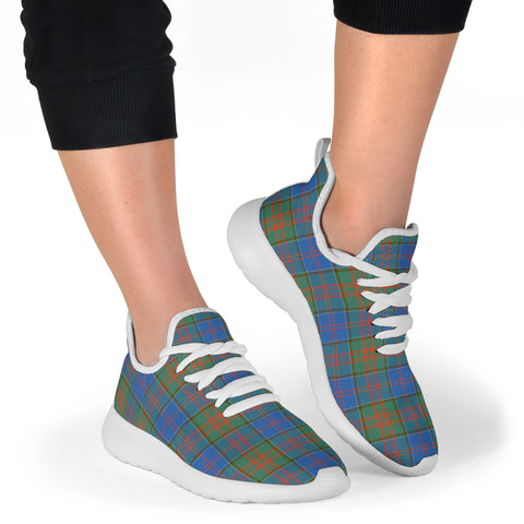 Image of Tartan Mesh Knit Sneakers - Stewart of Appin Hunting Ancient - BN