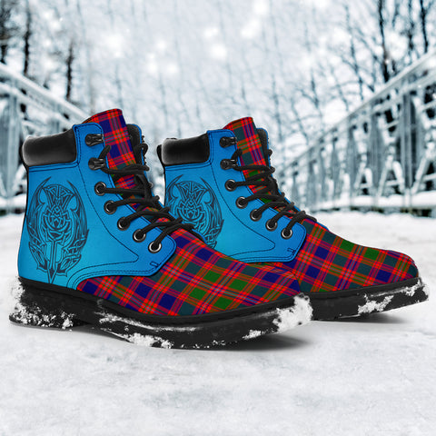 Image of Macintyre Modern Tartan All-Season Boots - Celtic Thistle TH8