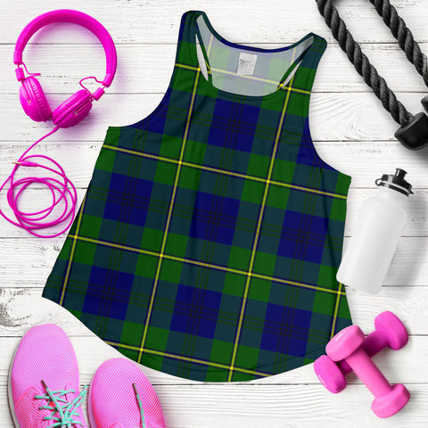 Johnston Modern Tartan Women Racerback Tank