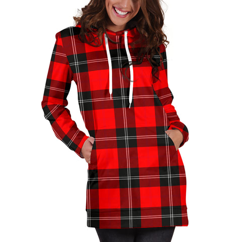 Image of Ramsay Modern Tartan Hoodie Dress HJ4