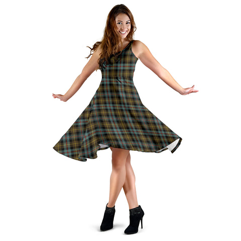 Image of Farquharson Weathered Tartan Dress