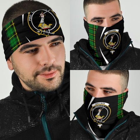 Image of Wallace Hunting - Green Tartan Bandana Circle Hj4