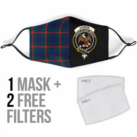 Agnew Modern  Tartan Mouth Mask The Half Th88