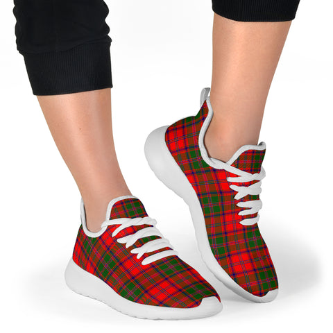 Image of Tartan Mesh Knit Sneakers - Stewart of Appin Modern - BN