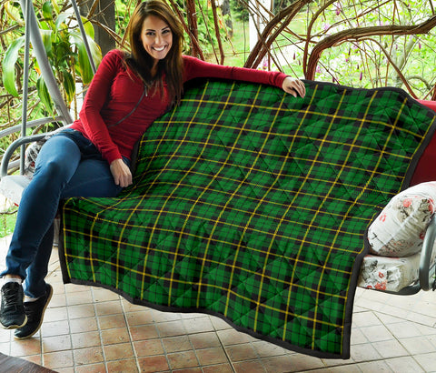 Wallace Hunting - Green Tartan Premium Quilt TH8
