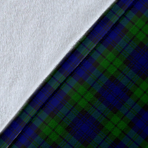 Campbell Crest Tartan Blanket | Tartan Home Decor | Scottish Clan