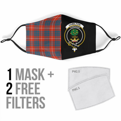 Hamilton Ancient  Tartan Mouth Mask The Half Th88