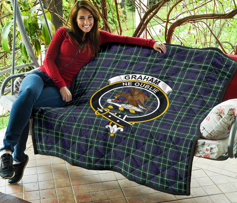 Graham of Montrose Modern Tartan Clan Badge Premium Quilt TH8