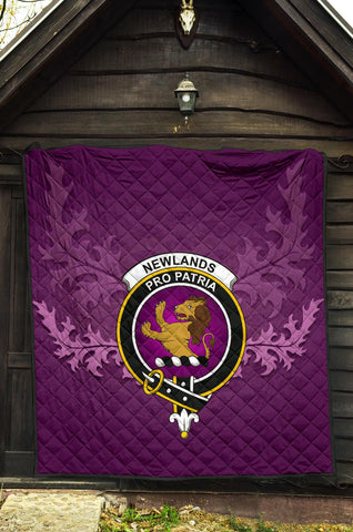 Image of Newlands of Lauriston Crest Violet Quilt