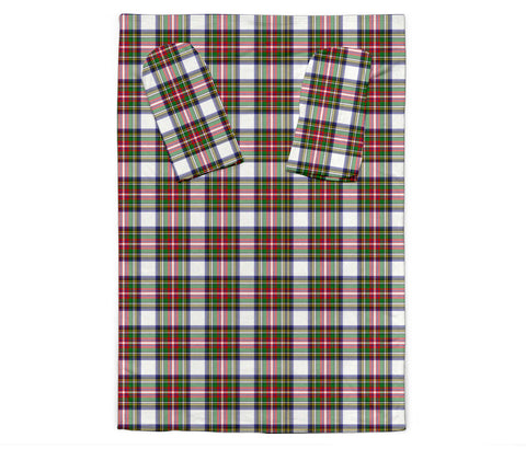 Stewart Dress Modern Tartan Clans Sleeve Blanket K6