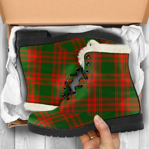 Menzies Green Modern Tartan Shoes